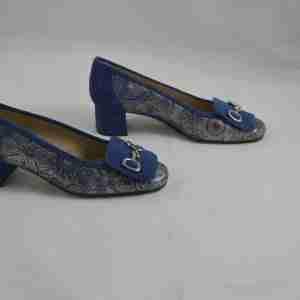 Scarpa décolleté Arte Veneta fantasia blu