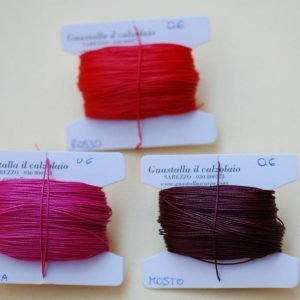 Filati tipo combi 0.6 colori rosso, fucsia, mosto