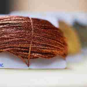 Filati tipo metal color rame