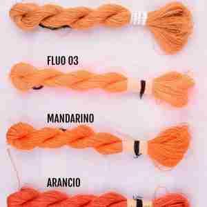 Filati color ocra, fluo 03, mandarino, arancio